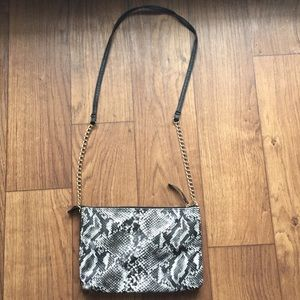 Snake Skin Chain Bag